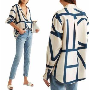 Totême Kenya Printed Silk Crepe De Chine Shirt-S